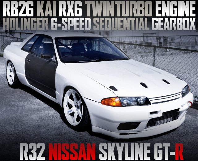 RX6 TWINTURBO AND HOLINGER 6MT WITH R32 GT-R