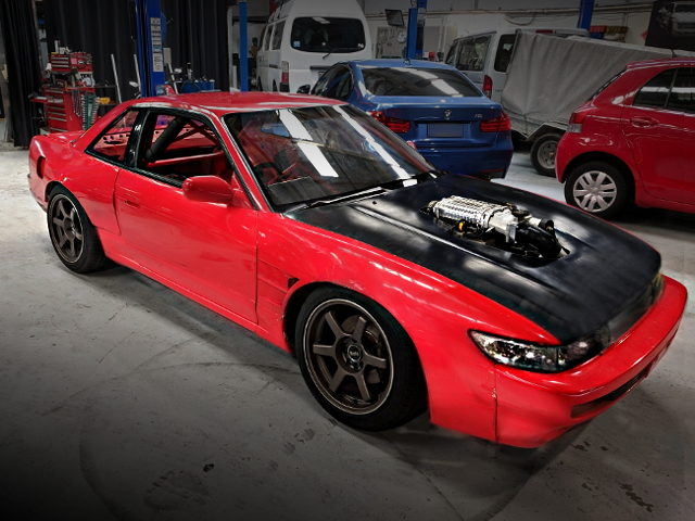 FRONT EXTERIOR S13 SILVIA RED