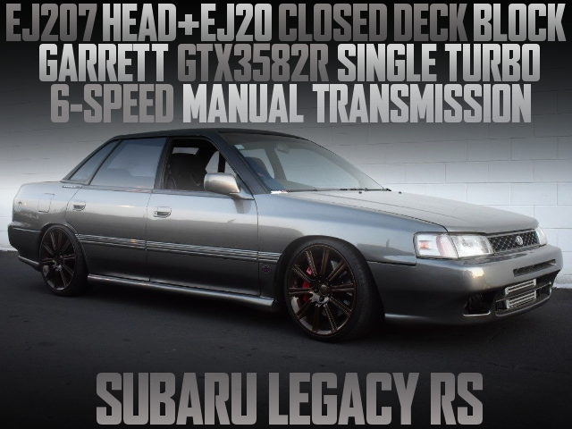 EJ207 BOXER ENGINE AND GTX3582R TURBO WITH 6MT FOR 1st Gen LEGACY RS