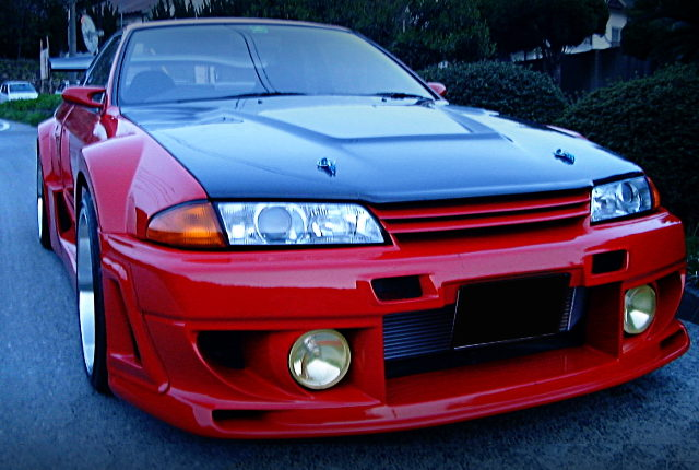 FRONT FACE R32 GT-R RED