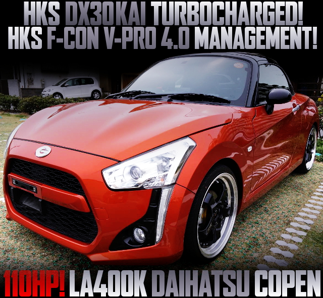 HKS DX30KAI TURBOCHARGED 2nd Gen COPEN ORANGE