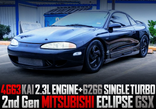 4G63 2300cc AND 6266 TURBO WITH 2ND GEN MITSUBISHI ECLIPSE GSX