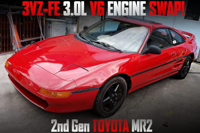 3VZ-FE 3000cc V6 ENGINE SWAP 2nd Gen TOYOTA MR2