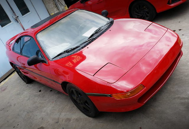 FRONT FACE SW21 TOYOTA MR2 RED
