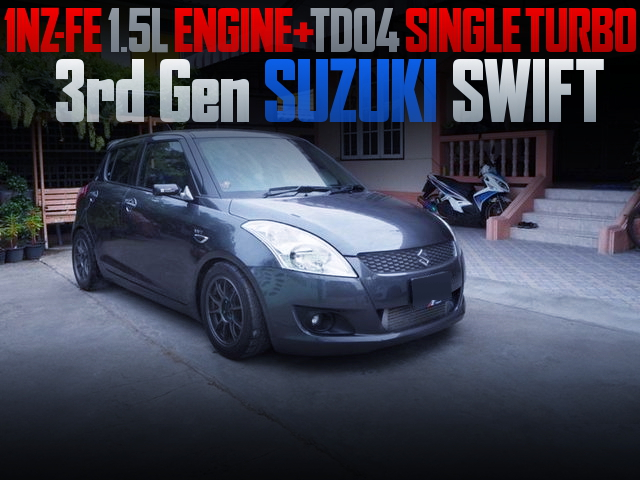 1NZ-FE ENGINE AND TD04 TURBO WITH 3rd Gen SUZUKI SWIFT