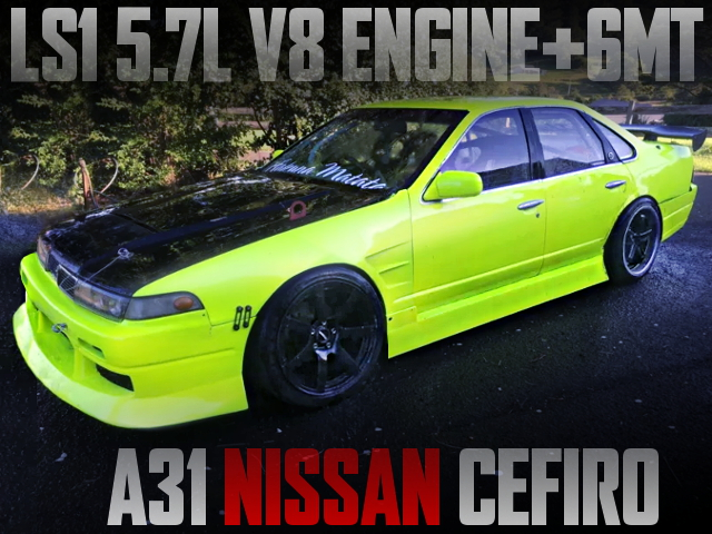 LS1 V8 ENGINE AND 6MT WITH A31 CEFIRO