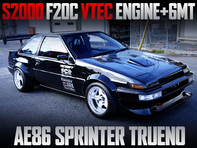 F20C VTEC ENGINE AND 6MT WITH AE86 SPRINTER TRUENO