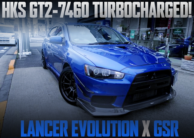 HKS GT2-7460 TURBOCHARGED EVO10 GSR BLUE