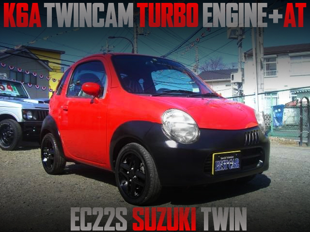 K6A TWINCAM TURBO ENGINE SWAPPED SUZUKI TWIN RED