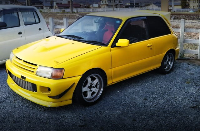 FRONT EXTERIOR EP82 STARLET GT YELLOW