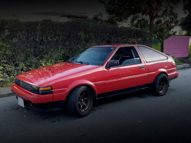 FRONT EXTERIOR AE86 COROLLA GT-S RED