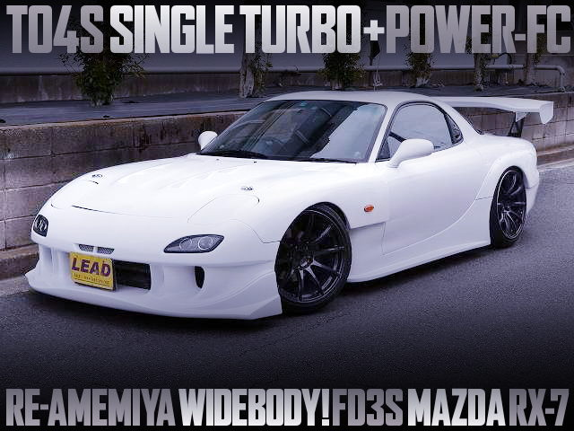 RE-AMEMIYA WIDEBODY OF FD3S RX-7 WHITE