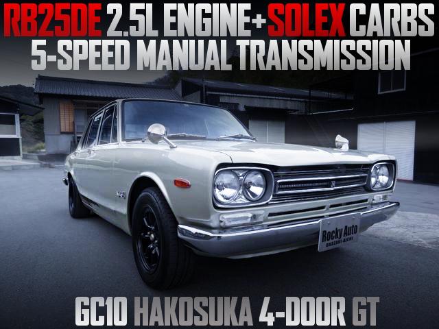 RB25DE CARBS ENGINE GC10 HAKOSUKA 4-DOOR GT
