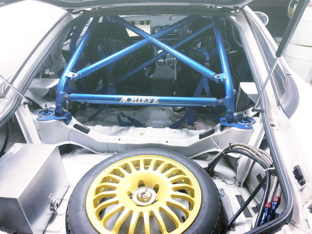 ROLL CAGE ON GTO INTERIOR