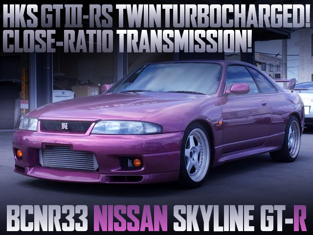 HKS GT3-RS TWINTURBOCHARGED R33 GTR PURPLE