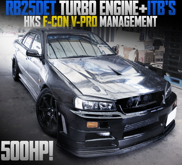 ITBs ON RB25DET WITH R34 SKYLINE 4-DOOR