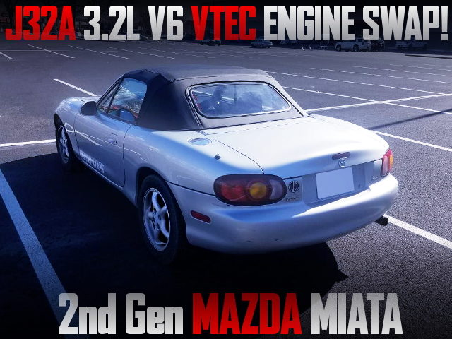 J32A V6 VTEC ENGINE SWAPPED NB MIATA