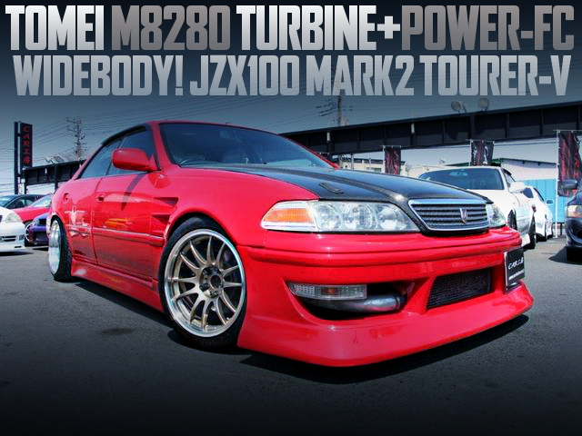 M8280 TURBO AND POWER FC WITH JZX100 MARK2 WIDEBODY RED