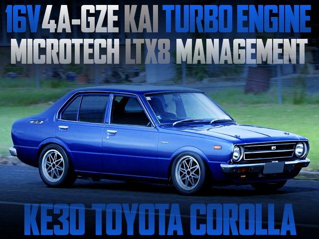 4AGZE TURBO ENGINE SWAPPED KE30 COROLLA 4-DOOR