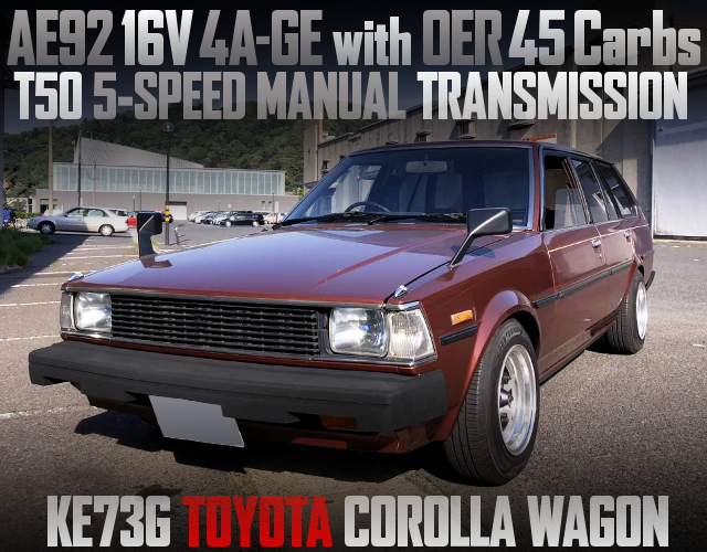 AE92 4AG AND OER45 CARBS WITH KE73G COROLLA WAGON