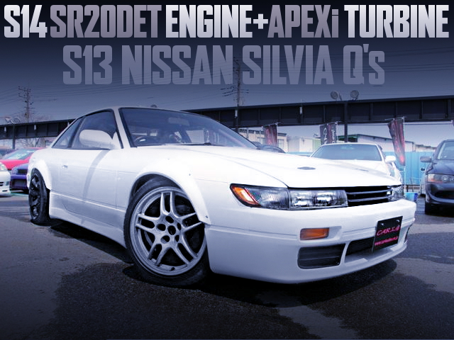 S14 SR20DET ENGINE AND APEXi TURBO WITH S13 SILVIA Qs
