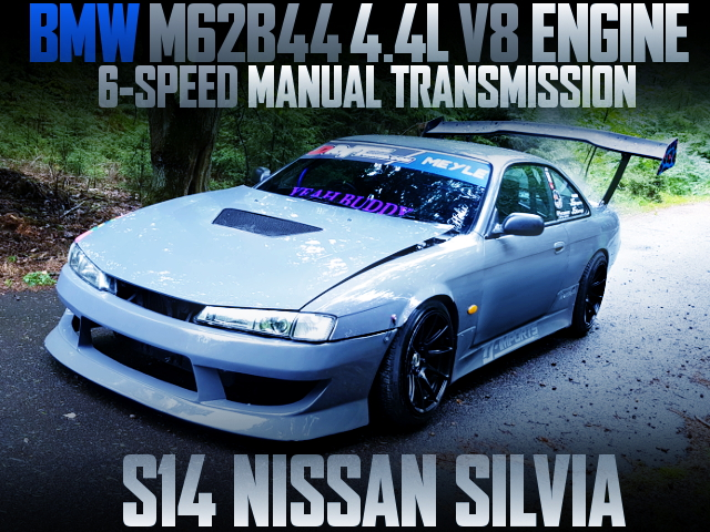 BMW M62B44 4400cc V8 ENGINE SWAPPED S14 SILVIA KOUKi