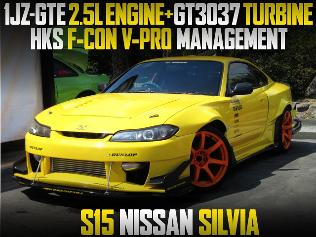1JZ-GTE ENGINE AND GT3037 TURBO WITH S15 SILVIA WIDEBODY