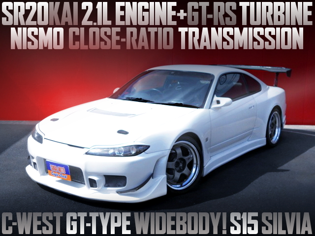 C-WEST GT-TYPE WIDEBODY WITH S15 SILVIA SPEC-R