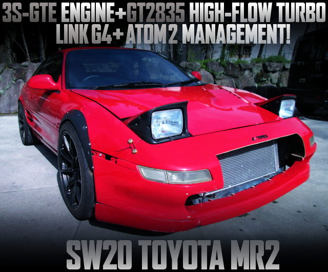 GT2835 HIGH FLOW TURBO WITH SW20 MR2 RED