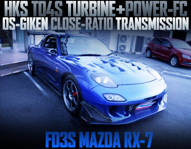TO4S TURBOCHARGED FD3S RX-7 BLUE