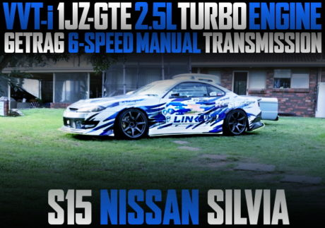 1JZ-GTE TURBO ENGINE AND 6MT WITH S15 SILVIA