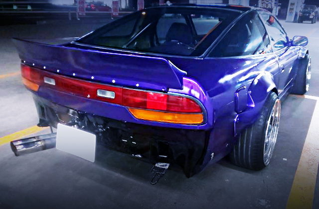 REAR EXTERIOR PURPLE 180SX