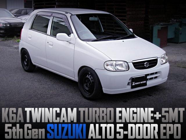 K6A TWINCAM TURBO ENGINE SWAPPED 5th Gen ALTO 5-DOOR EPO