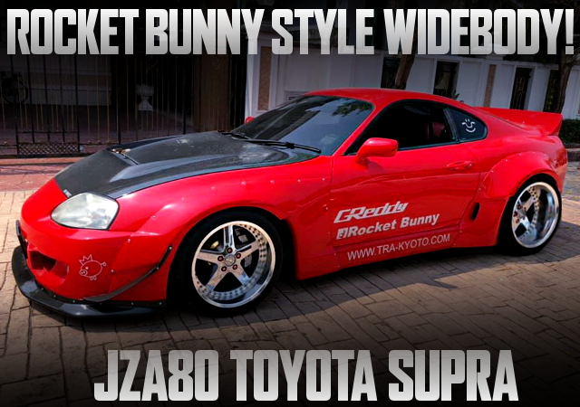ROCKET BUNNY STYLE WIDEBODY FOR JZA80 SUPRA RED