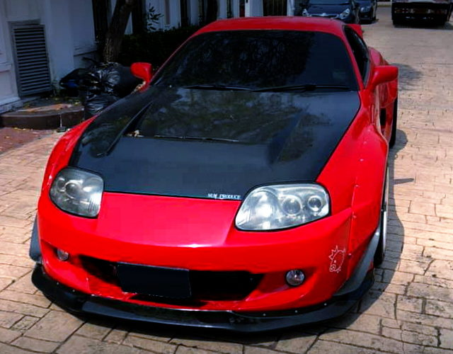 FRONT FACE MK4 SUPRA RED