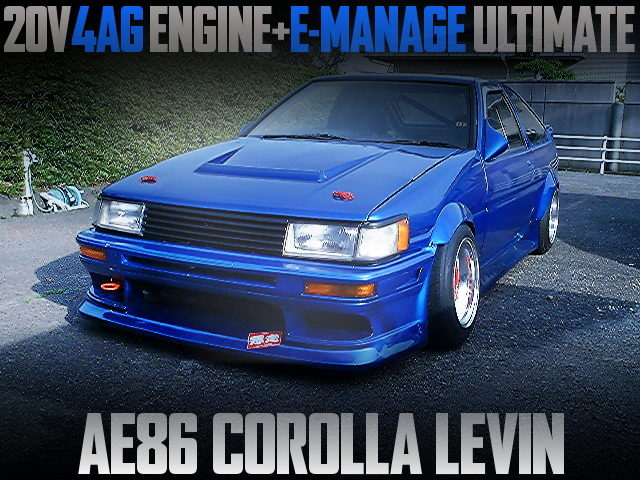 20V 4AG ENGINE SWAPPED AE86 LEVIN BLUE