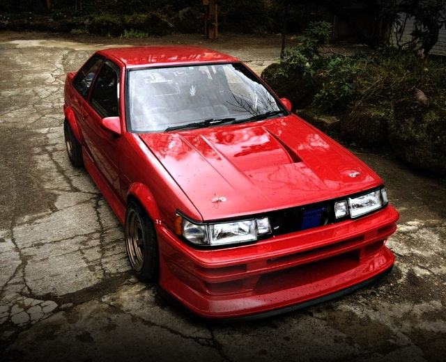 FRONT EXTERIOR AE86 LEVIN RED