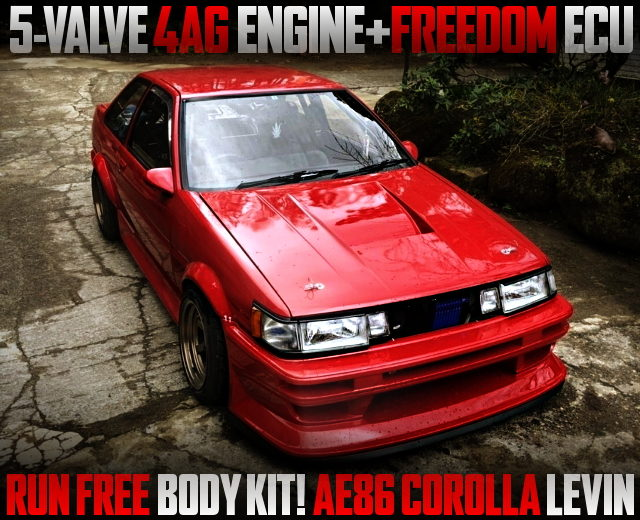 5V 4AG SWAPPED AE86 KOUKI LEVIN WITH RUN FREE BODY KIt