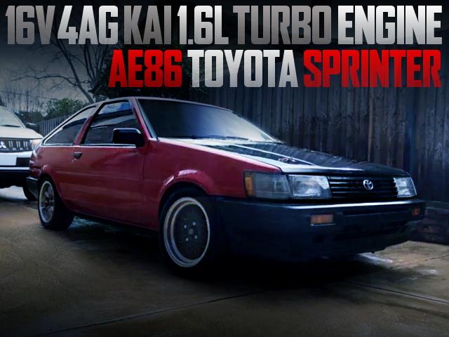 4AG KAI TURBO ENGINE INTO AE86 TOYOTA SPRINTER