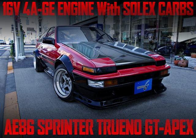 SOLEX CARBS ON 4AG ENGINE WITH AE86 TRUENO GT-APEX