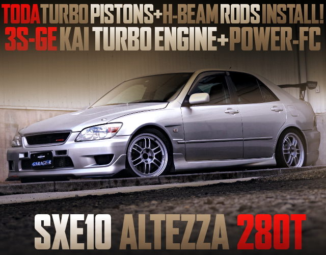 TURBO PISTONS INTO 3SGE TURBO ENGINE WITH ALTEZZA 280T