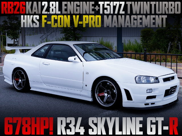 RB26 2800cc and T517 TWINTURBO FOR R34 SKYLINE GT-R