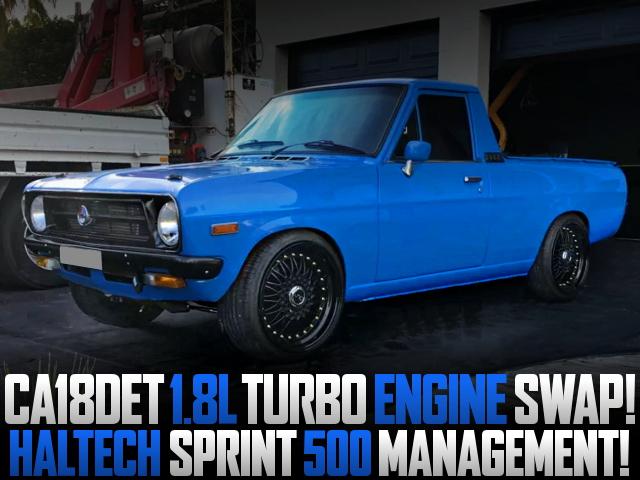 CA18DET TURBO ENGINE SWAPPED DATSUN 1200 UTE