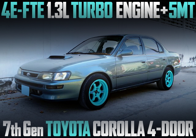 4E-FTE TURBO ENGINE SWAPPED E100 COROLLA 4-DOOR SEDAN