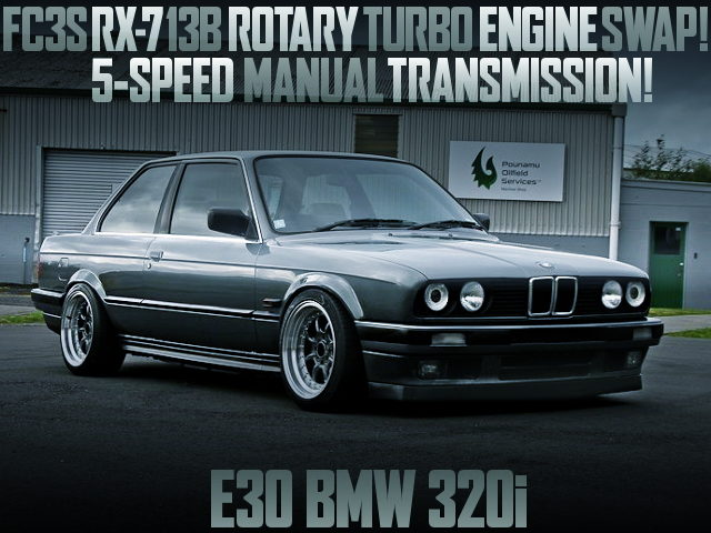 RX7 13B ROTARY TURBO ENGINE SWAPPED E30 BMW 320i
