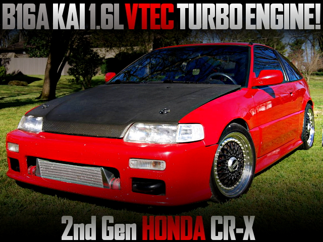 B16A KAI VTEC TURBO ENGINE INTO 2nd Gen HONDA CR-X