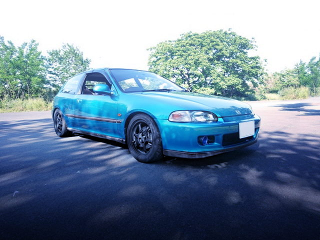 FRONT EXTERIOR EG6 CIVIC SiR2 GREEN