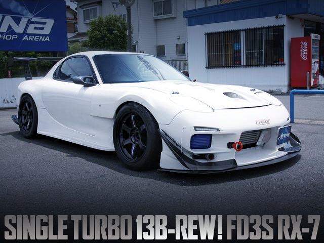 SINGLE TURBOCHARGED FD3S MAZDA RX-7 WIDEBODY WHITE