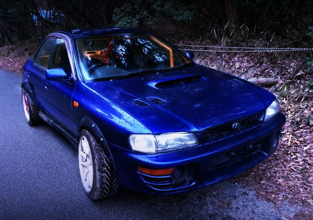 FRONT EXTERIOR GC8 IMPREZA WRX OF DRIFT CAR