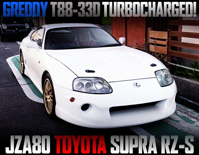 T88-33D SINGLE TURBOCHARGED JZA80 SUPRA RZ-S WHITE